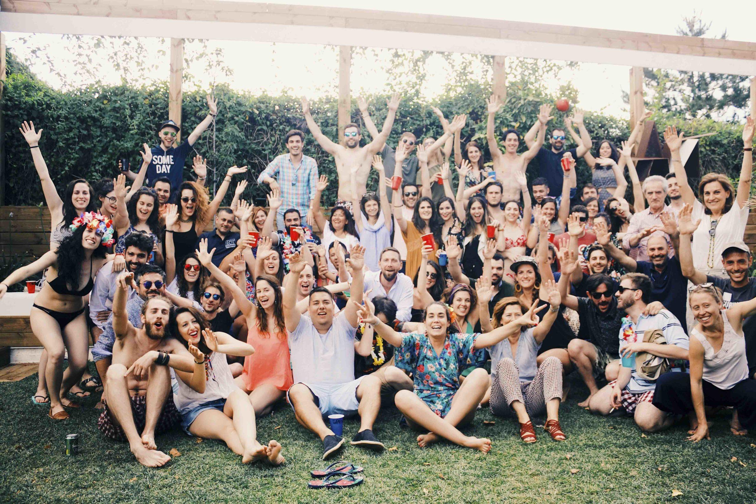Fiesta verano grupal
